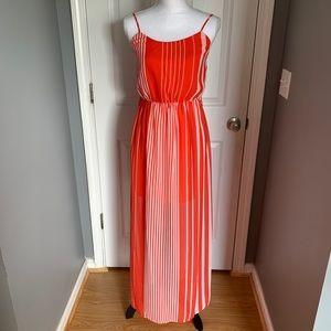 As U Wish Spaghetti strap maxi orange dress size S